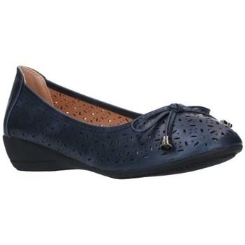Zapatos Mujer Bailarinas-manoletinas Balleri 2059-1 Mujer Azul marino bleu