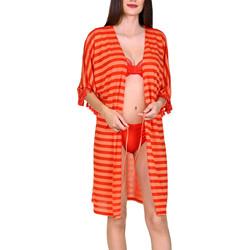 textil Mujer Túnicas Lisca Túnica de playa abierta media manga Itala Marina Arena