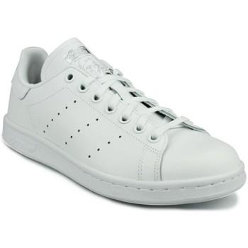 Zapatos Niño Zapatillas bajas adidas Originals Adidas Stan Smith J Blanc Blanco