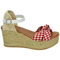 Zapatos Mujer Sandalias Popa Costa rica vichy BLANCO-ROJO