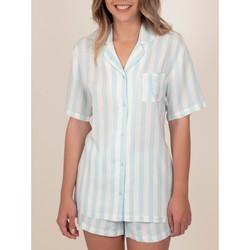 textil Mujer Pijama Admas Camisa de pijama corta Classic Stripes azul Azul