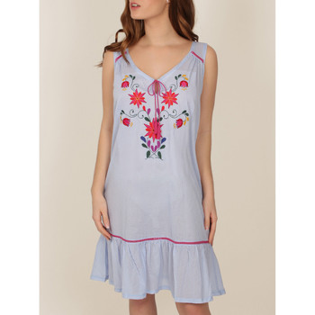 textil Mujer Pijama Admas Camisón bordado mexicano azul Azul