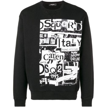 textil Hombre sudaderas Dsquared Jersey & Cardigans S74GU0305 negro