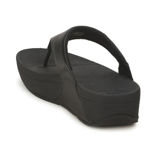 Mujer Lulu Leather Chanclas Negro Zapatos Fitflop OkuiPXZ