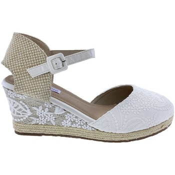 Zapatos Mujer Alpargatas Mandarina Shoes Cuña Mandarina Laura Blanco Blanco