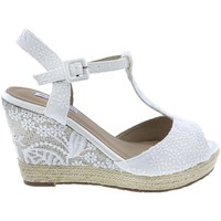 Zapatos Mujer Sandalias Mandarina Shoes Cuña Mandarina Alexia Blanco Blanco