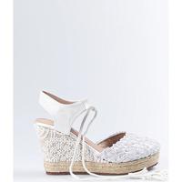 Zapatos Mujer Alpargatas Mandarina Shoes Cuña Mandarina Elena Blanco Blanco