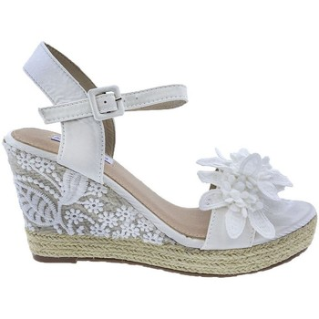 Zapatos Mujer Sandalias Mandarina Shoes Cuña Mandarina Daniela Blanco Blanco