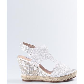 Zapatos Mujer Sandalias Mandarina Shoes Cuña Mandarina Sara Blanco Blanco