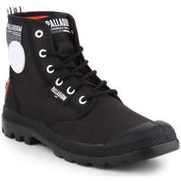 Zapatos Hombre Botas de caña baja Palladium Pampa Lite Overlab Negros