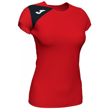 textil Mujer Tops y Camisetas Joma Spike II m/c Mujer Rojo-Negro