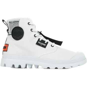 Zapatos Hombre Botas de caña baja Palladium Manufacture Pampa Lite Overlab Blanco