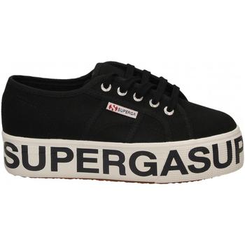 Zapatos Mujer Zapatillas bajas Superga 2790-COTW OUTSOLE LETTERING 999-black