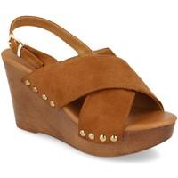 Zapatos Mujer Sandalias Prisska Y5627 Camel