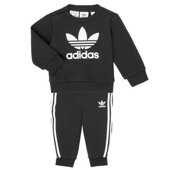 textil Niños Conjunto adidas Originals CREW SET Negro