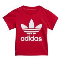 textil Niños camisetas manga corta adidas Originals TREFOIL TEE Rojo