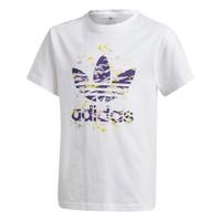 textil Niña Camisetas manga corta adidas Originals TREF TEE Blanco