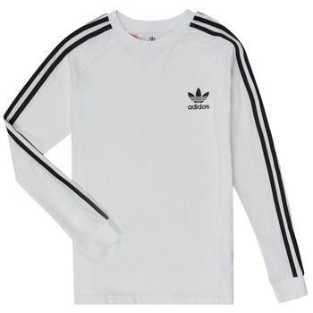 textil Niño Camisetas manga larga adidas Originals 3STRIPES LS Blanco