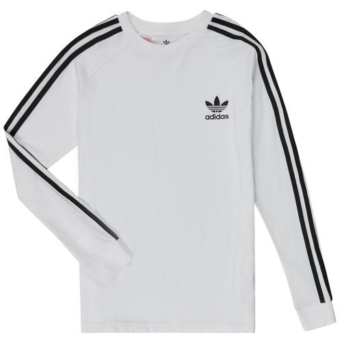 textil Niños Camisetas manga larga adidas Originals 3STRIPES LS Blanco