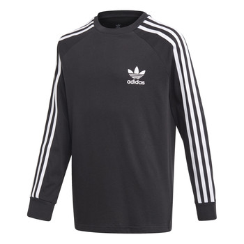 textil Niño Camisetas manga larga adidas Originals 3STRIPES LS Negro