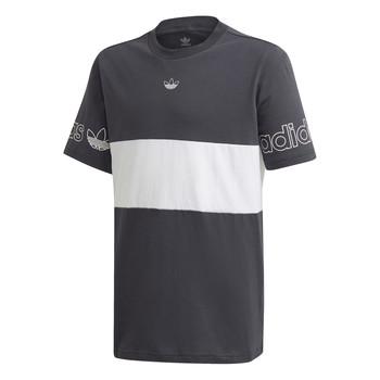 textil Niño Camisetas manga corta adidas Originals PANEL TEE Gris / Blanco