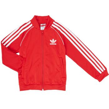 textil Niño Chaquetas de deporte adidas Originals SST TRACKTOP Rojo