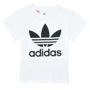 textil Niños Camisetas manga corta adidas Originals TREFOIL TEE Blanco