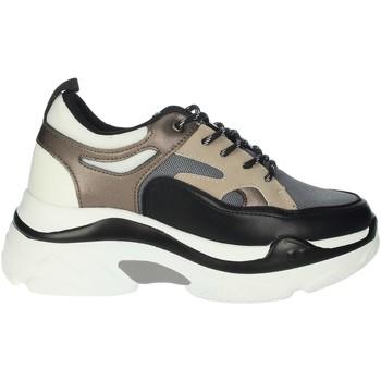 Zapatos Mujer Zapatillas altas Rocco Barocco RBSC4EX01 Sneakers Mujer Negro/Beige Negro/Beige