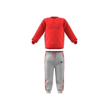 textil Niños Conjunto adidas Performance MH LOG JOG FL Rojo / Gris
