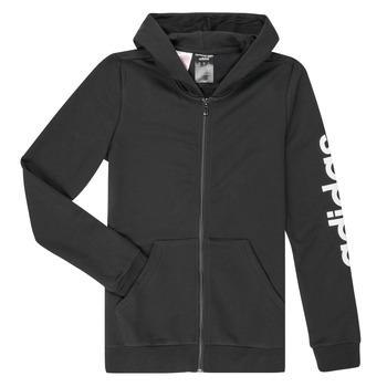 textil Niña Sudaderas adidas Performance YG E LIN FZ HD Negro