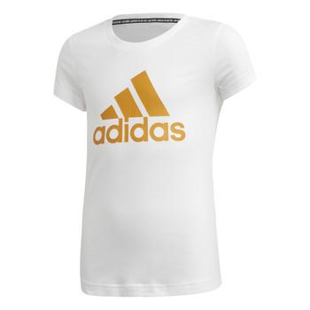 textil Niña Camisetas manga corta adidas Performance YG MH BOS TEE Blanco