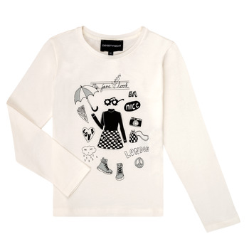 textil Niña Camisetas manga larga Emporio Armani 6H3T01-3J2IZ-0101 Blanco