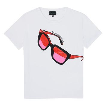 textil Niña Camisetas manga corta Emporio Armani 6H3T7T-3J2IZ-0100 Blanco