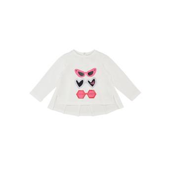 textil Niña Camisetas manga larga Emporio Armani 6HEM01-3J2IZ-0101 Blanco