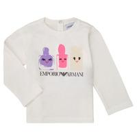 textil Niña Camisetas manga larga Emporio Armani 6HET02-3J2IZ-0101 Blanco