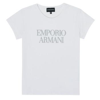 textil Niña Camisetas manga corta Emporio Armani 8N3T03-3J08Z-0100 Blanco
