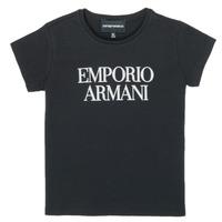 textil Niña Camisetas manga corta Emporio Armani 8N3T03-3J08Z-0999 Negro