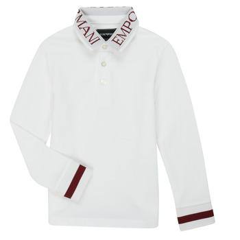 textil Niño Polos manga larga Emporio Armani 6H4FJ4-1J0SZ-0101 Blanco