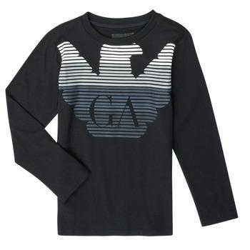 textil Niño Camisetas manga larga Emporio Armani 6H4T17-1J00Z-0999 Negro