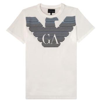 textil Niño Camisetas manga corta Emporio Armani 6H4TQ7-1J00Z-0101 Blanco