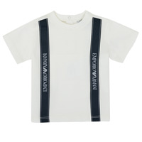 textil Niño Camisetas manga corta Emporio Armani 6HHTG4-1JTUZ-0101 Blanco