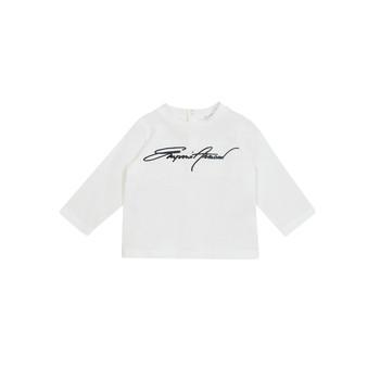 textil Niño Camisetas manga larga Emporio Armani 6HHTJN-1JTUZ-0101 Blanco