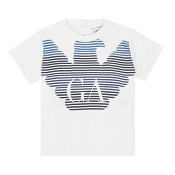 textil Niño Camisetas manga corta Emporio Armani 6HHTQ7-1J00Z-0101 Blanco
