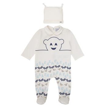 textil Niño Pijama Emporio Armani 6HHV08-4J3IZ-0101 Blanco / Azul