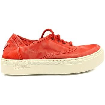 Zapatos Mujer Zapatillas bajas Natural World Basket Platform Rouge 652-6112E Rojo