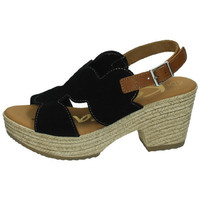 Zapatos Mujer Sandalias Karralli Serraje negro NEGRO