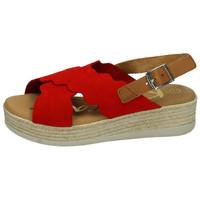 Zapatos Mujer Sandalias Karralli Sandalia serraje roj ROJO