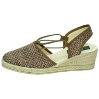 Zapatos Mujer Sandalias Isasa Zapatilla esparto Marrón