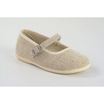 Zapatos Niña Bailarinas-manoletinas Vulpeques Lona niña  254-lc beig Blanco
