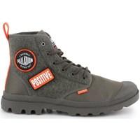 Zapatos Hombre Zapatillas altas Palladium Pampa HI Change U Verde olivo